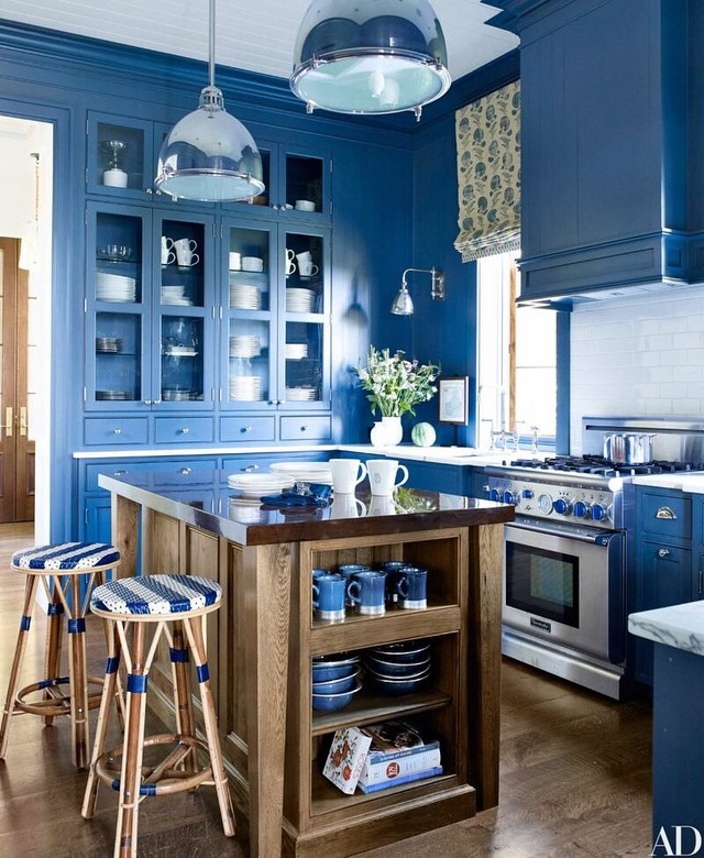 blue kitchen design best benjamin paint colors for kitchens 2017 1732