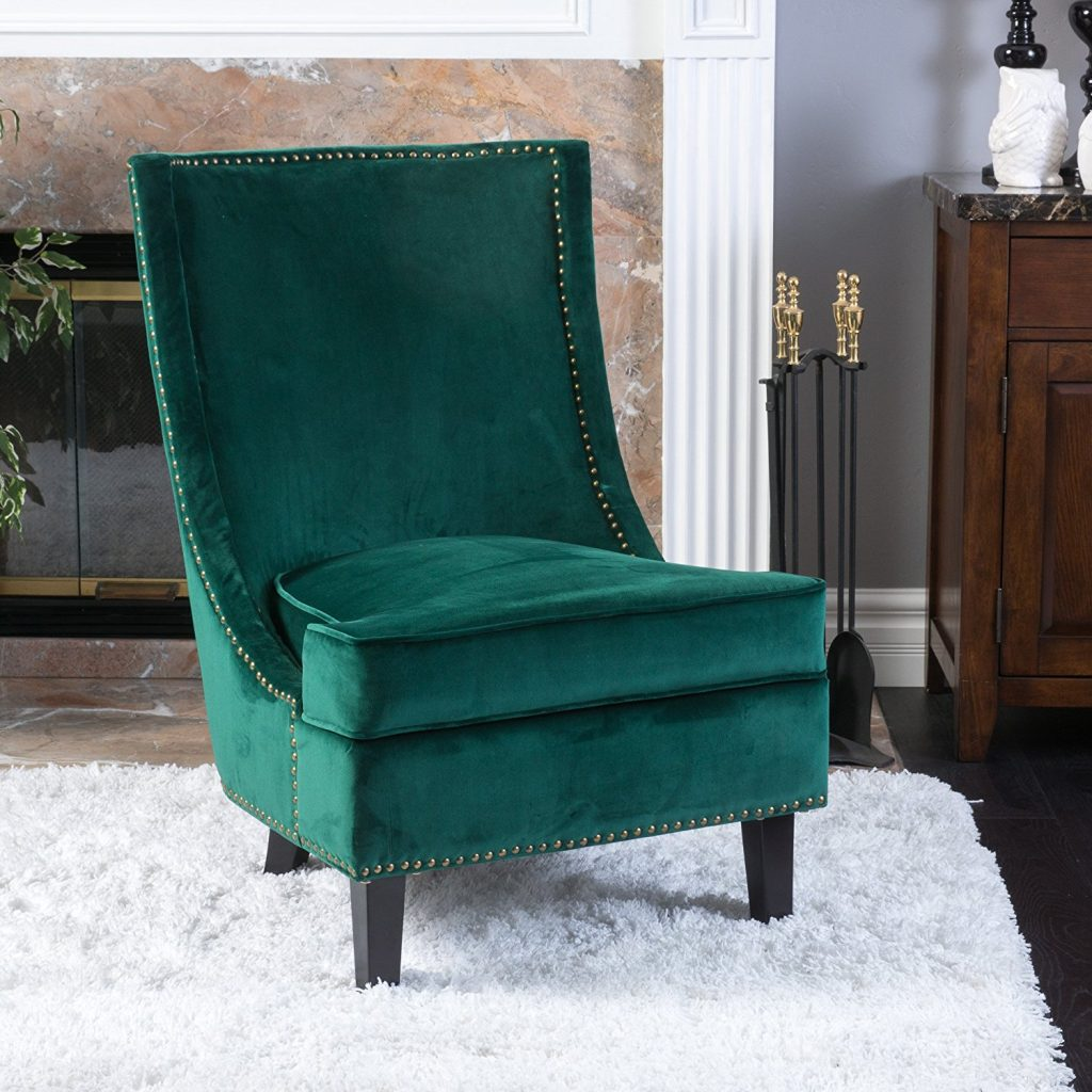 Emerald sofa interior design trend 2017 interiors by color - Amazon bedroom chairs and stools ...