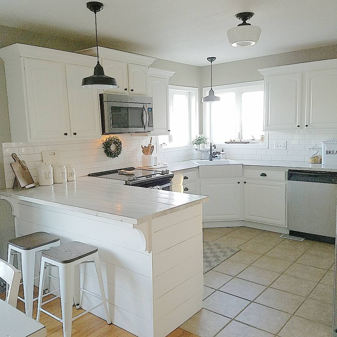 Purple And Grey Color Schemes: Sherwin Williams Intellectual Gray Kitchen