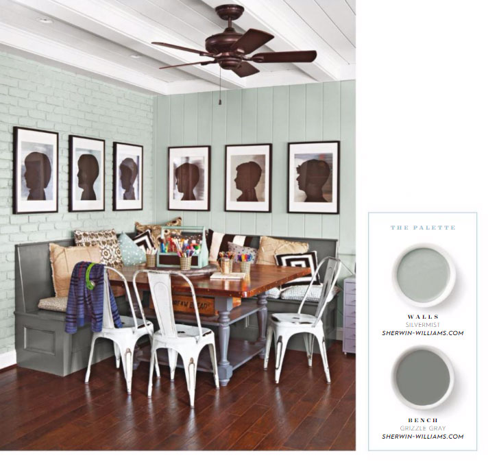 Sherwin Williams Silver Mist And Grizzle Gray