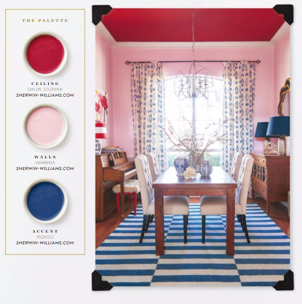 Sherwin Williams Paints in Red, Pink and Blue