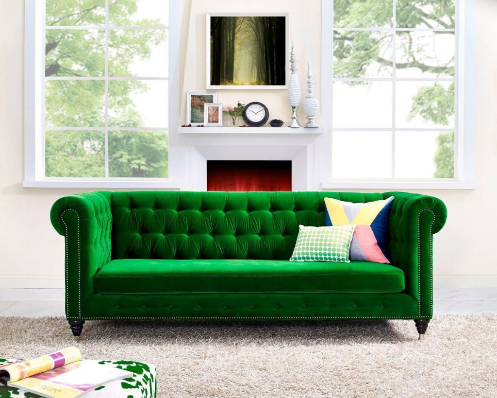 emerald sofa interior design trend 2017 interiors by color. Black Bedroom Furniture Sets. Home Design Ideas