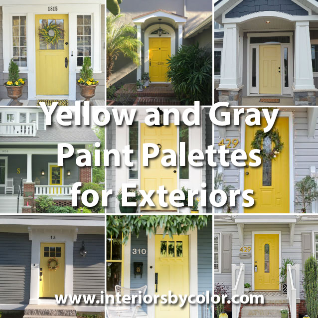 Yellow and Gray Design with Paint