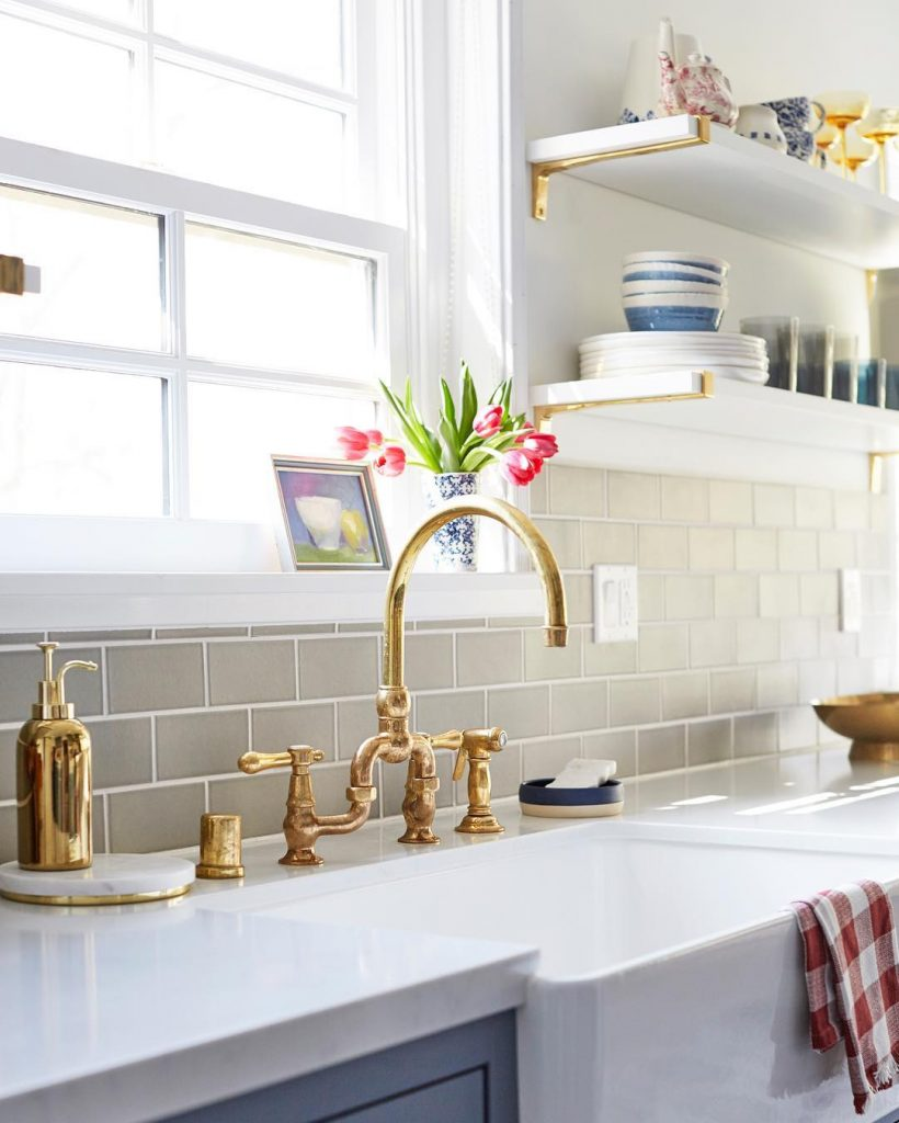 gold faucets butler sink