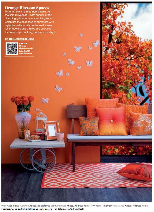 Paint Palette - Orange Blossom - Interiors By Color