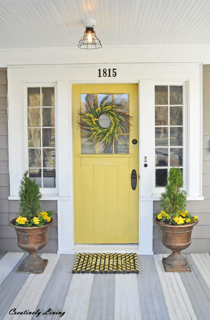 Yellow and Gray Design with Paint for the Exterior of Your ...