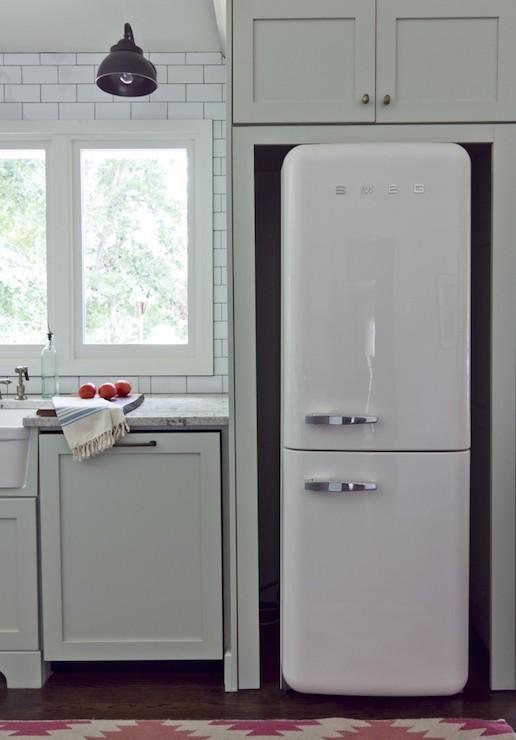 white SMEG fridge