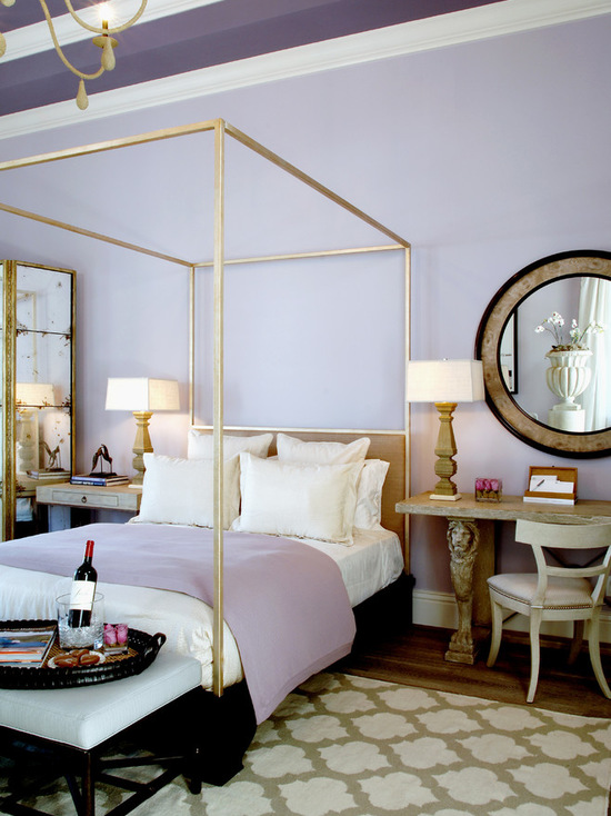 popular purple paint colors for your bedroom interiors by color