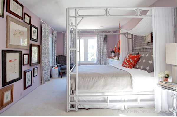 Popular purple paint colors for your bedroom interiors for Benjamin moore french white