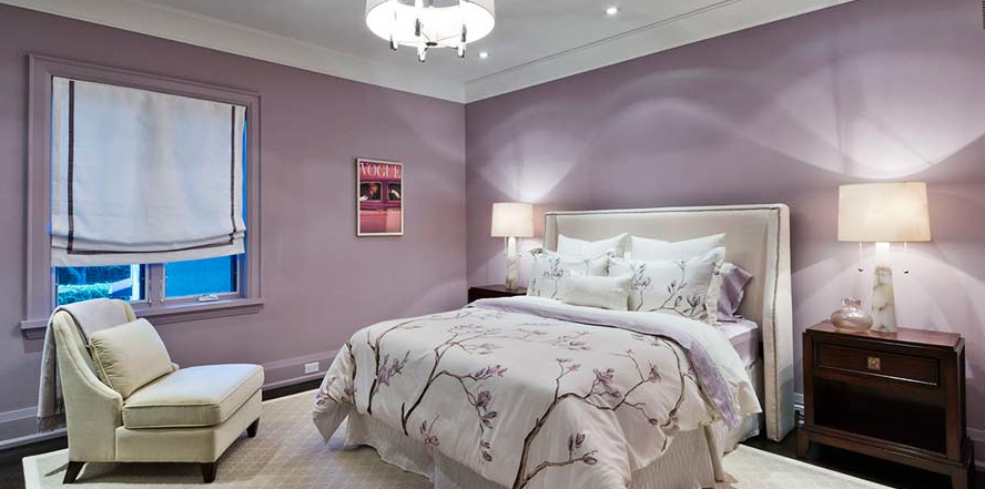 Popular purple paint colors for your bedroom interiors by color - Camera da letto glicine ...