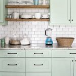 Green and red rustic kitchen interiors by color for Benjamin moore tea light