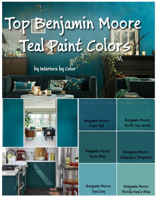 Benjamin Moore Teal Paint Colors