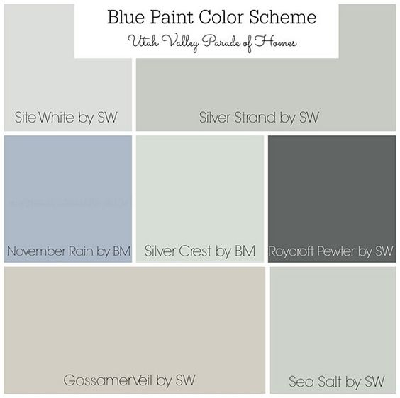 Gray Blue Paint Colors: Best Neutral Paint Color Palettes For Your Entire House