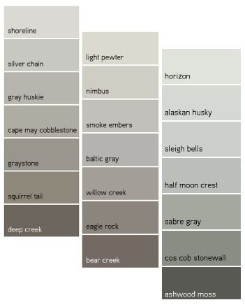 best gray paint colors best neutral paint color palettes for your entire house 12511