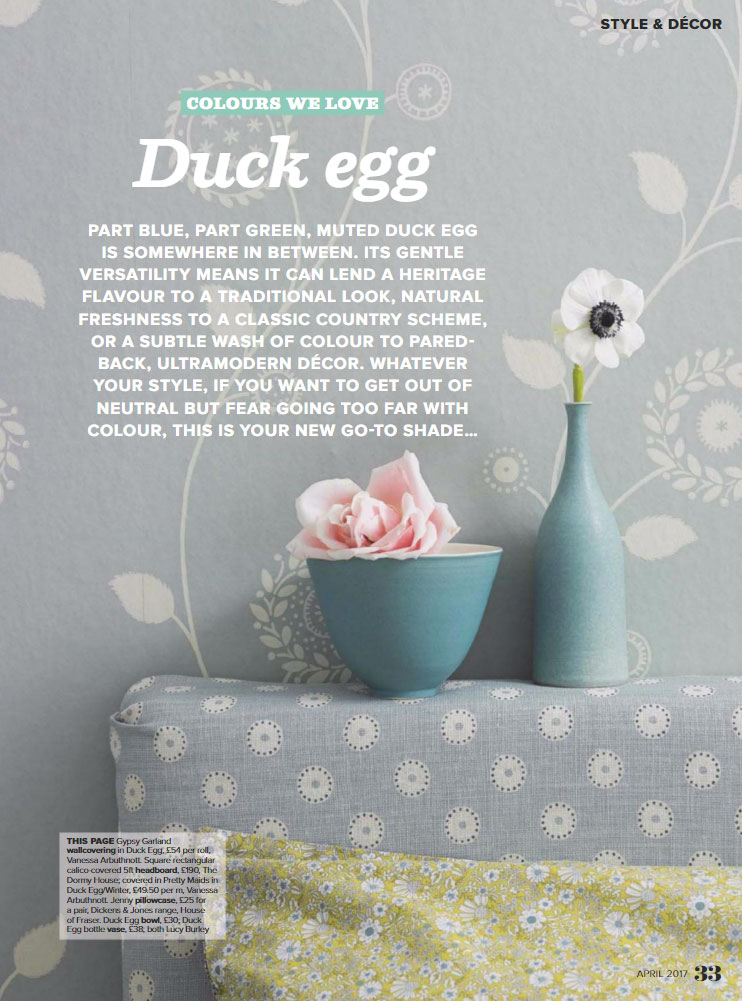 Decorating with Duck Egg
