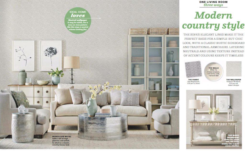 Gray Layered Modern Living Room Palette