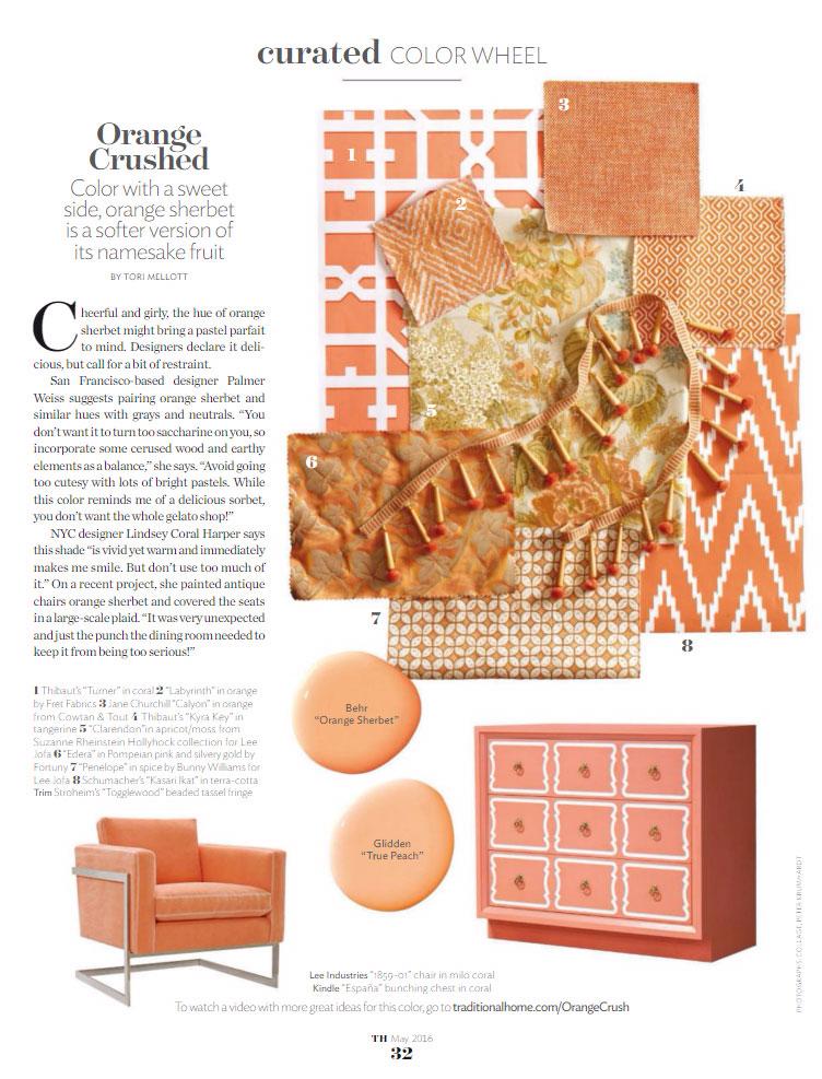 Paint Color Palette Orange Crushed Interiors By Color