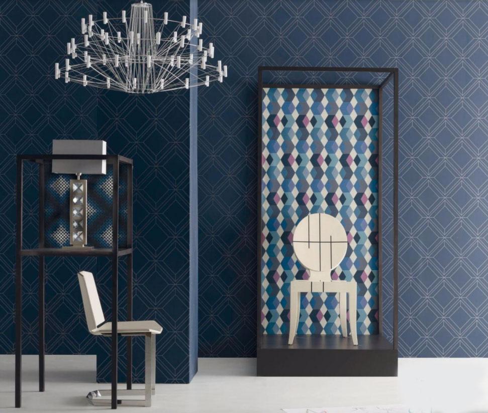 Blue Interior Design: 2017 Decorating Trends: Graphic Blues Interior Design