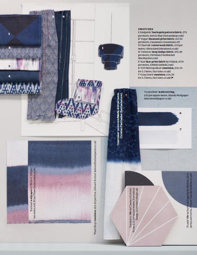 2017 Decorating Trends: Graphic Blues Interior Design Ideas