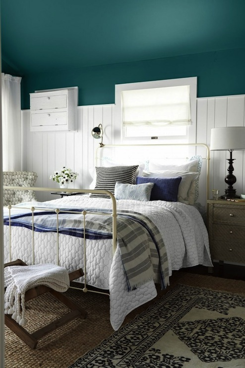 Benjamin Moore Oasis Blue bedroom walls