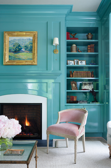 turquoise library - Interiors By Color (3 interior