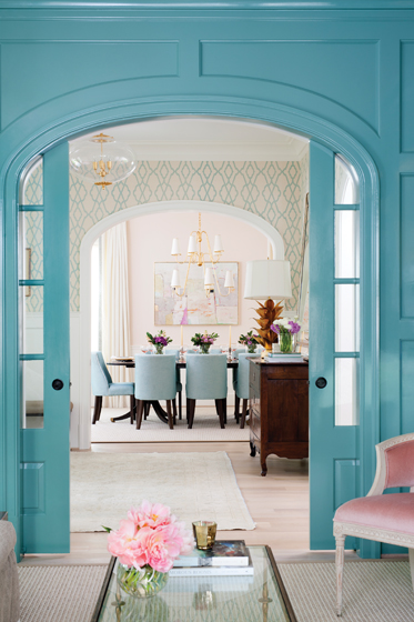 Benjamin Moore S Mill Springs Blue Walls Interiors By Color