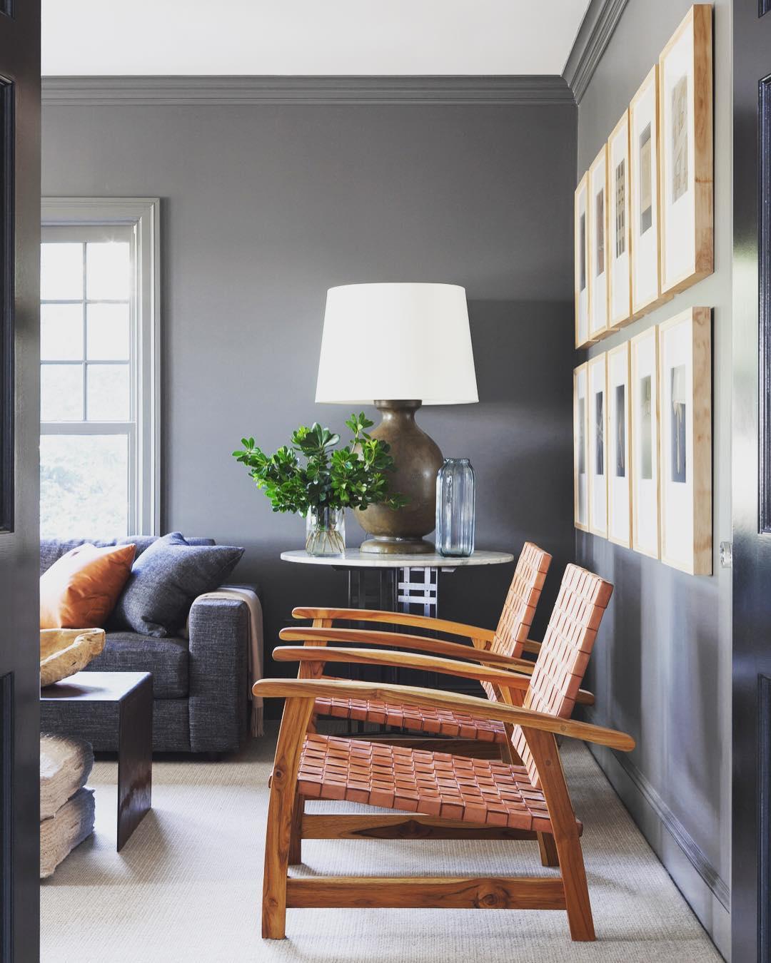 Benjamin Moore Kendall Charcoal living room