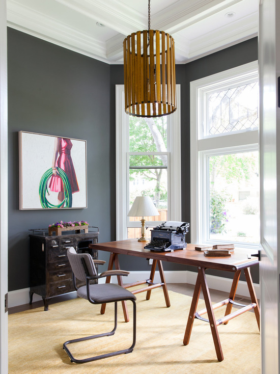 Benjamin Moore Kendall Charcoal paint home office