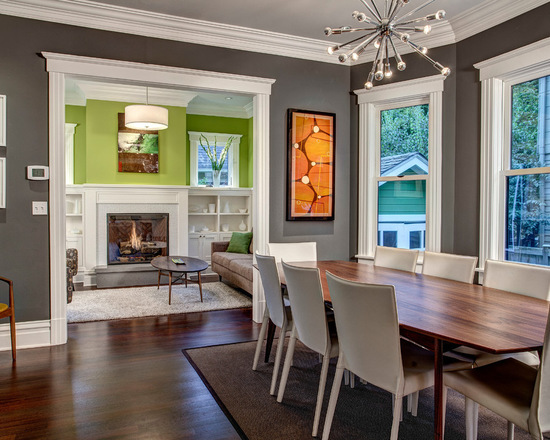 Benjamin Moore's Kendall Charcoal HC-166 dining room
