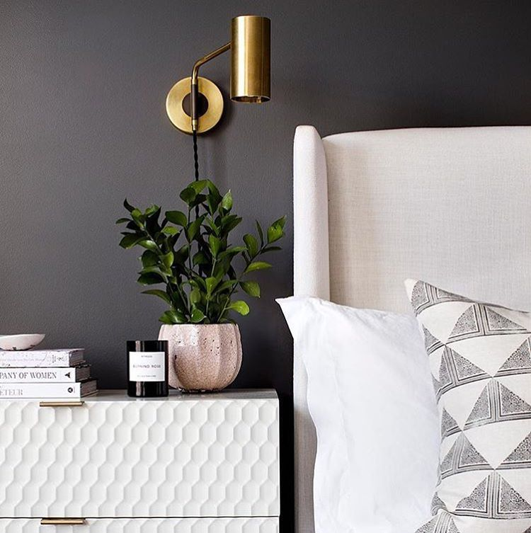Kendall Charcoal by Benjamin Moore bedroom walls