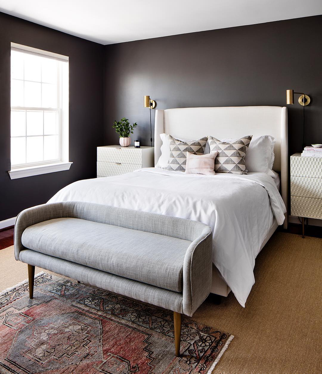 Staircase Wall Accent Charcoal Grey Paint: Benjamin Moore Kendall Charcoal