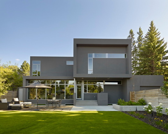 Kendall Charcoal modern house exterior