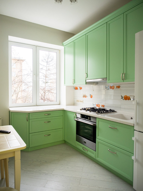 Spring green kitchen