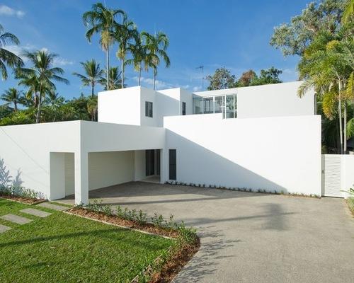 White exterior home