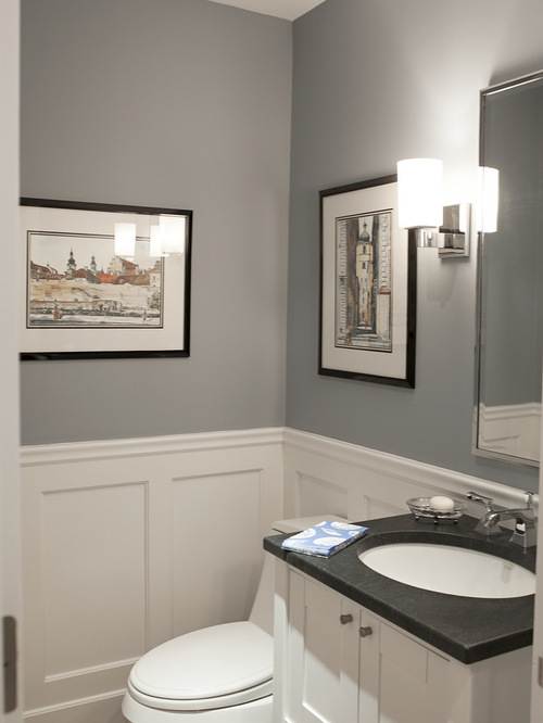 Benjamin Moore Pikes Peak Gray Bathroom Wall Color