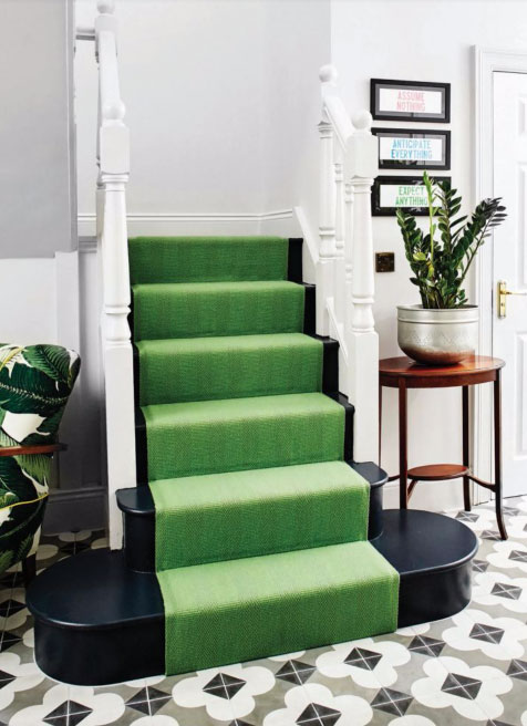 Green stair case