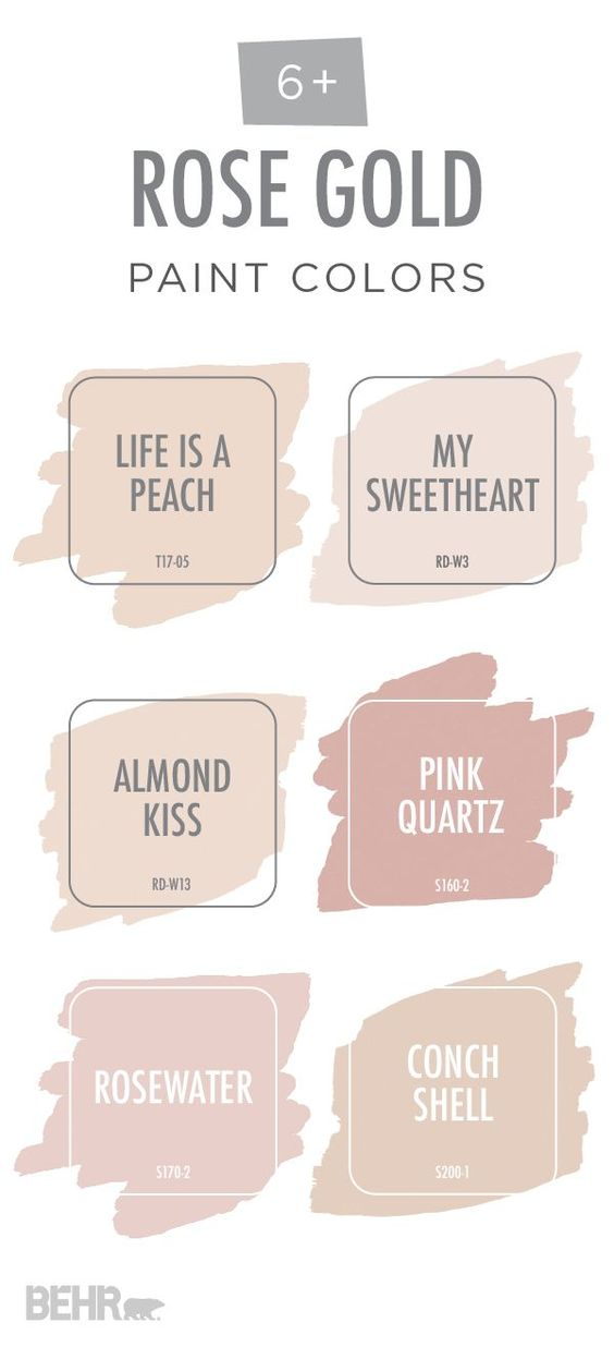 Paint color and Interior Color Palettes and Schemes pink