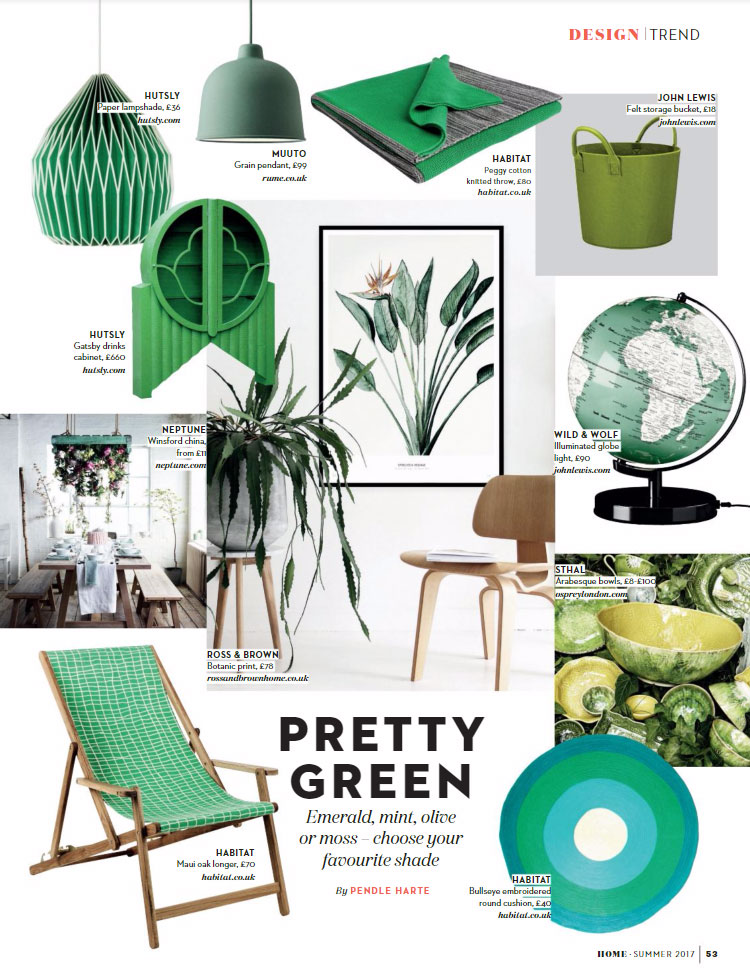 green interior color palette