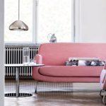 interior design ideas 2017 pink statement sofa