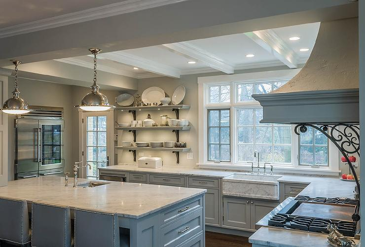 Benjamin Moore Gray Owl French Kitchen