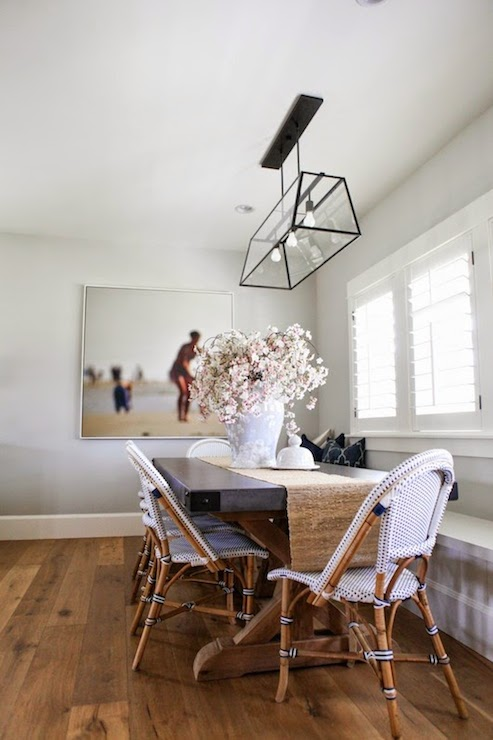 Benjamin Moore Gray Owl Paint Color Ideas breakfast nook