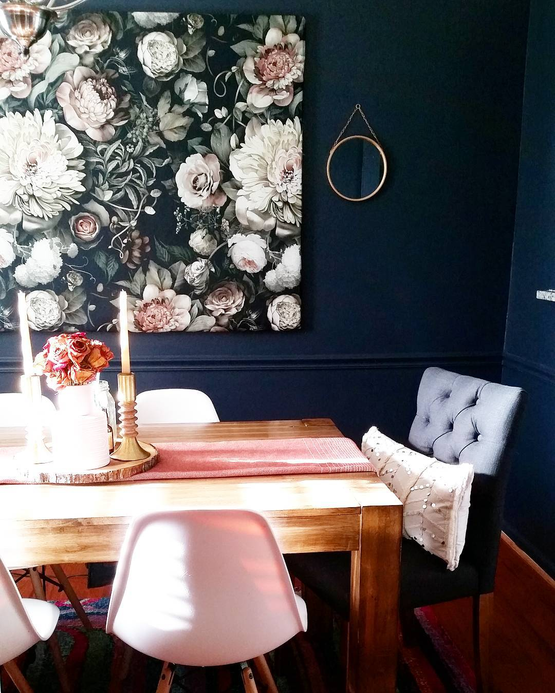 Benjamin Moore Hale Navy Dining Room Walls Interiors By
