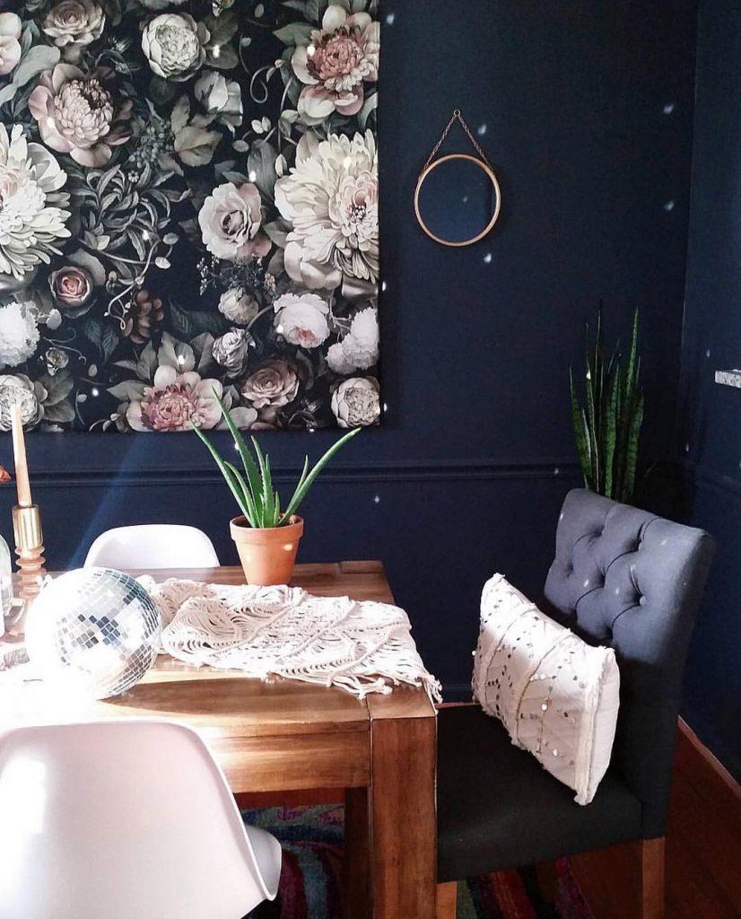 Benjamin Moore Hale Navy Dining Room Walls