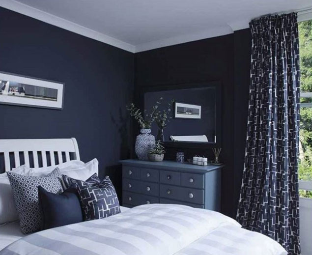 Blue Bedroom Blinds