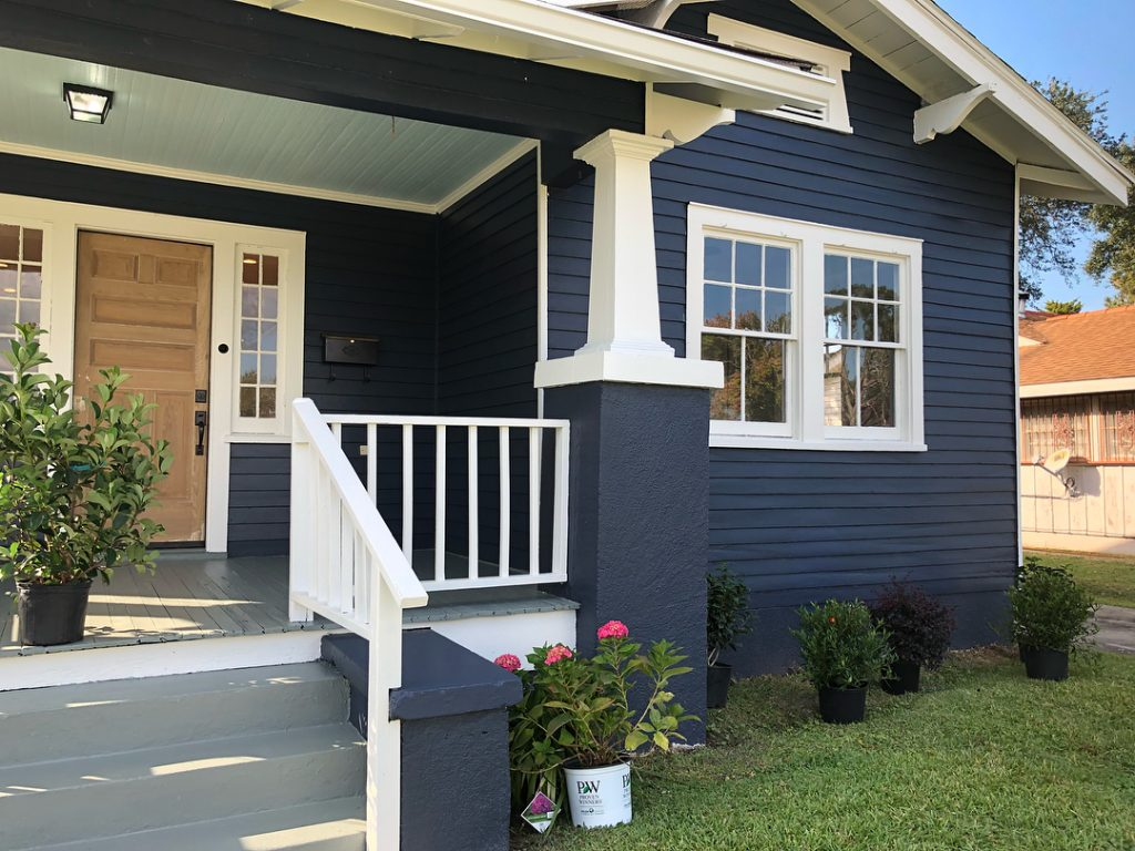 Benjamin Moore Hale Navy paint color exterior