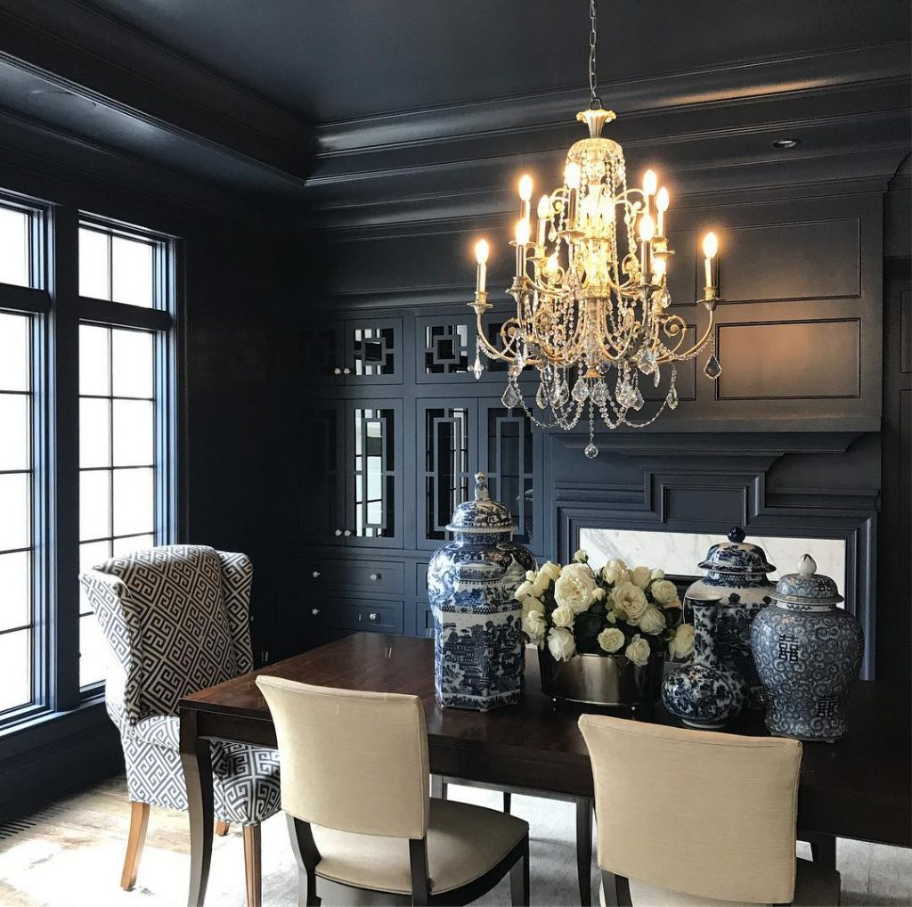 Benjamin Moore Hale Navy paint dining room