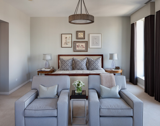 Gray Owl by Benjamin Moore bedroom walls paint color