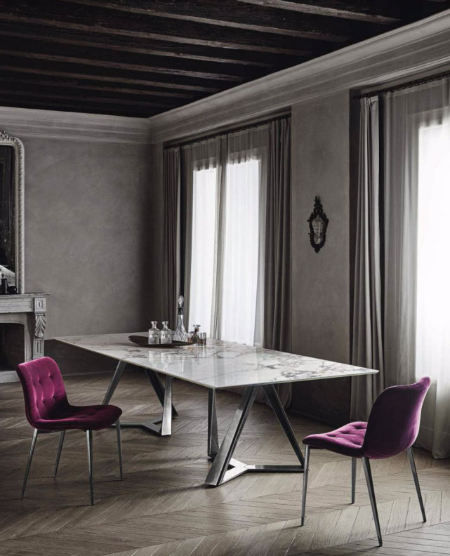 Gray and Pink Dining Room