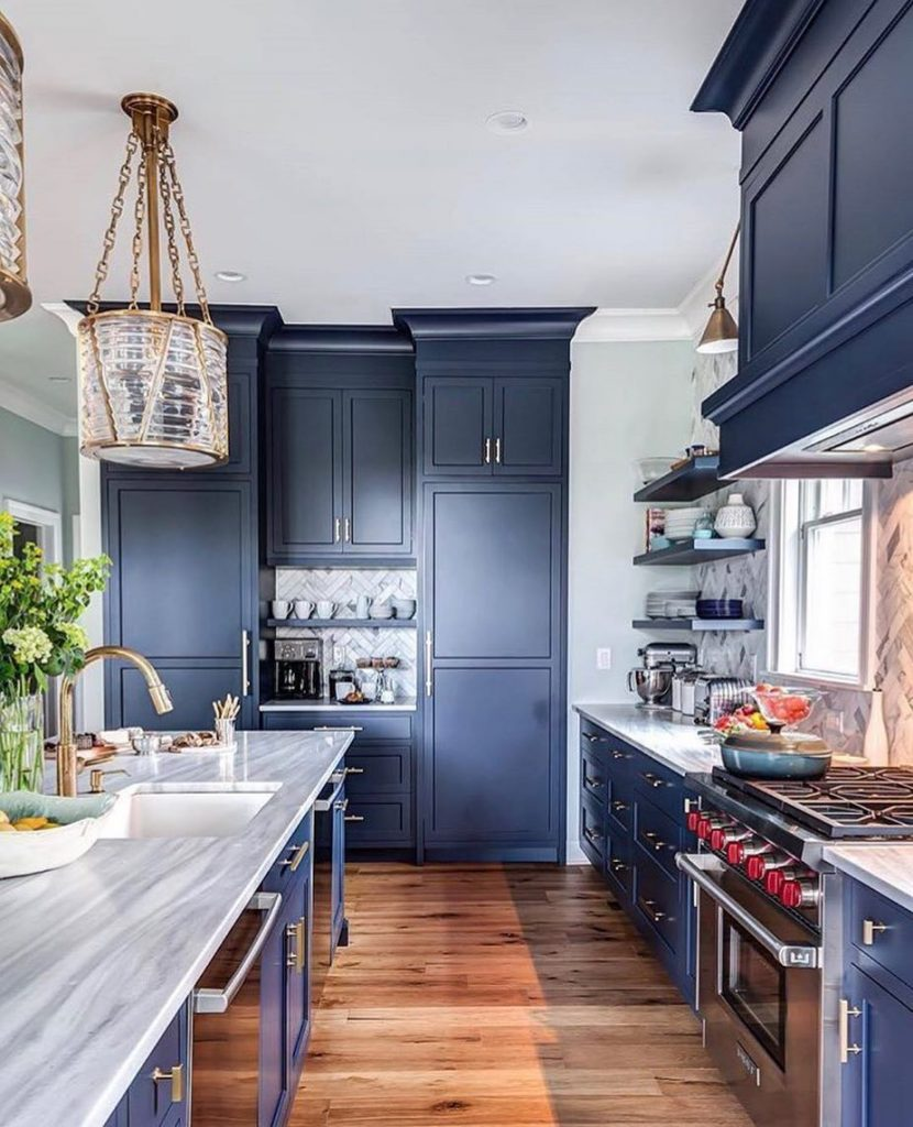 Benjamin moore hale navy paint color ideas interiors by for Hale navy benjamin moore