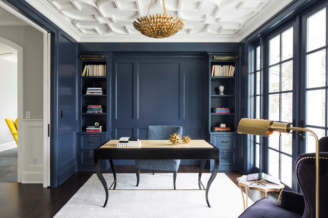 Benjamin Moore Hale Navy Paint Color Ideas office